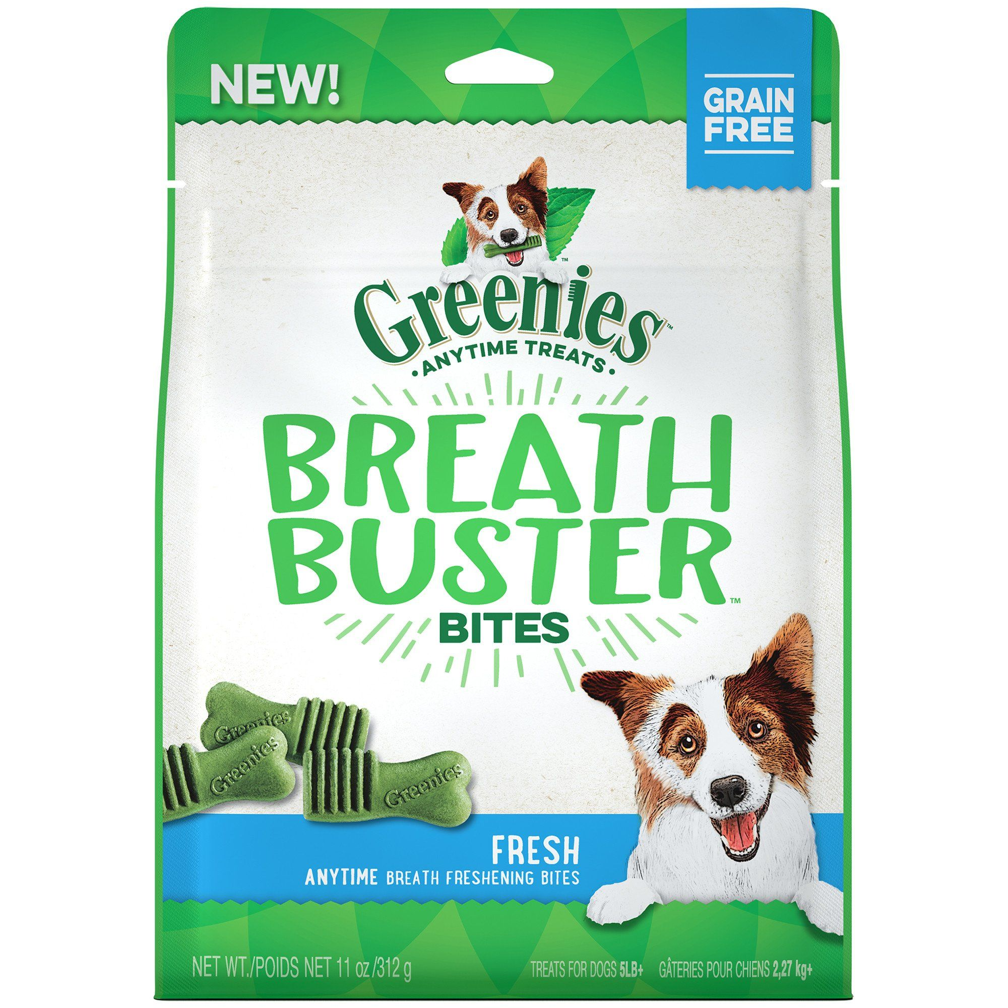 Greenies Breath Buster Bites Fresh Flavor Treats For Dogs 11 Oz