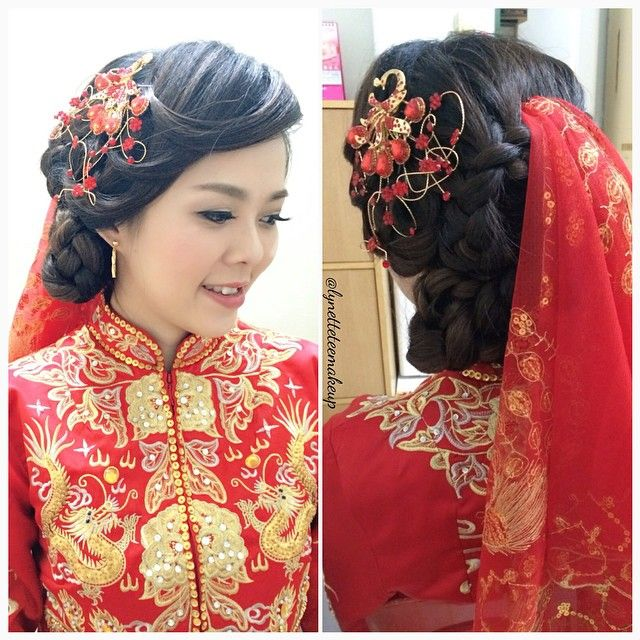 Actual wedding day make up & hairdo. Gorgeous bride with traditional gown: Sharon