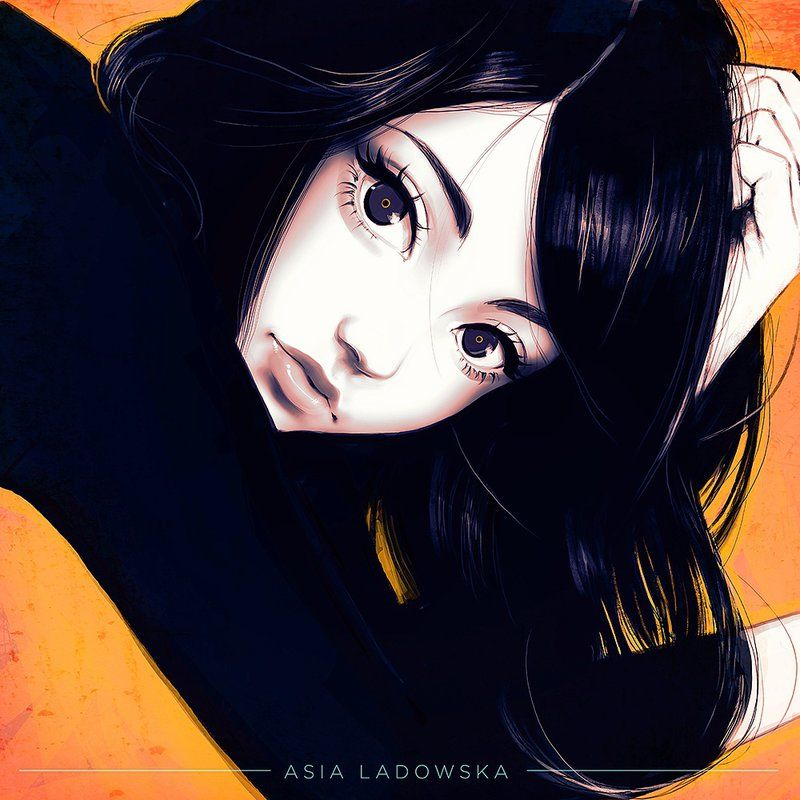 Image result for black hair asia ladowska