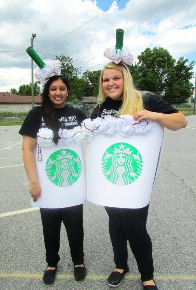 Diy Cute Twin Day Idea Starbucks Cups Poster Board Tissue Paper