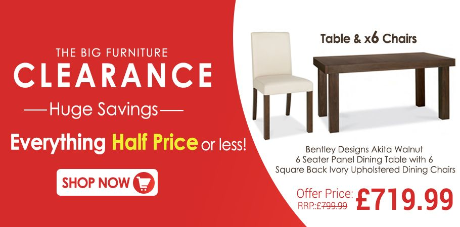 The Big Furniture Clearance Sale Is On Buy Our Bentley Designs - Dining chairs and table clearance sale