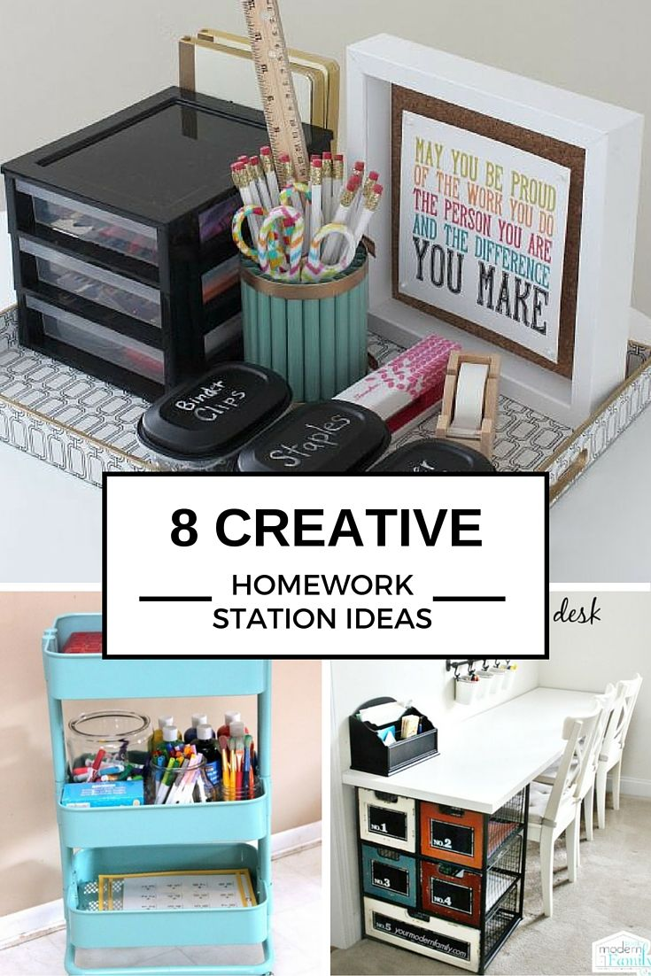 8 Ideas To Create The Perfect Homework Station Desk