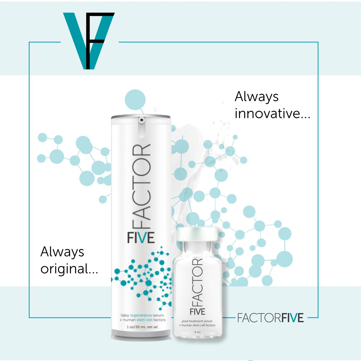 Always Innovative And Always Original Factorfive S Growth Factor Skincare Line Is Clinically Proven To Reduce Signs Of Aging Skin Care Stem Cells Cell Growth