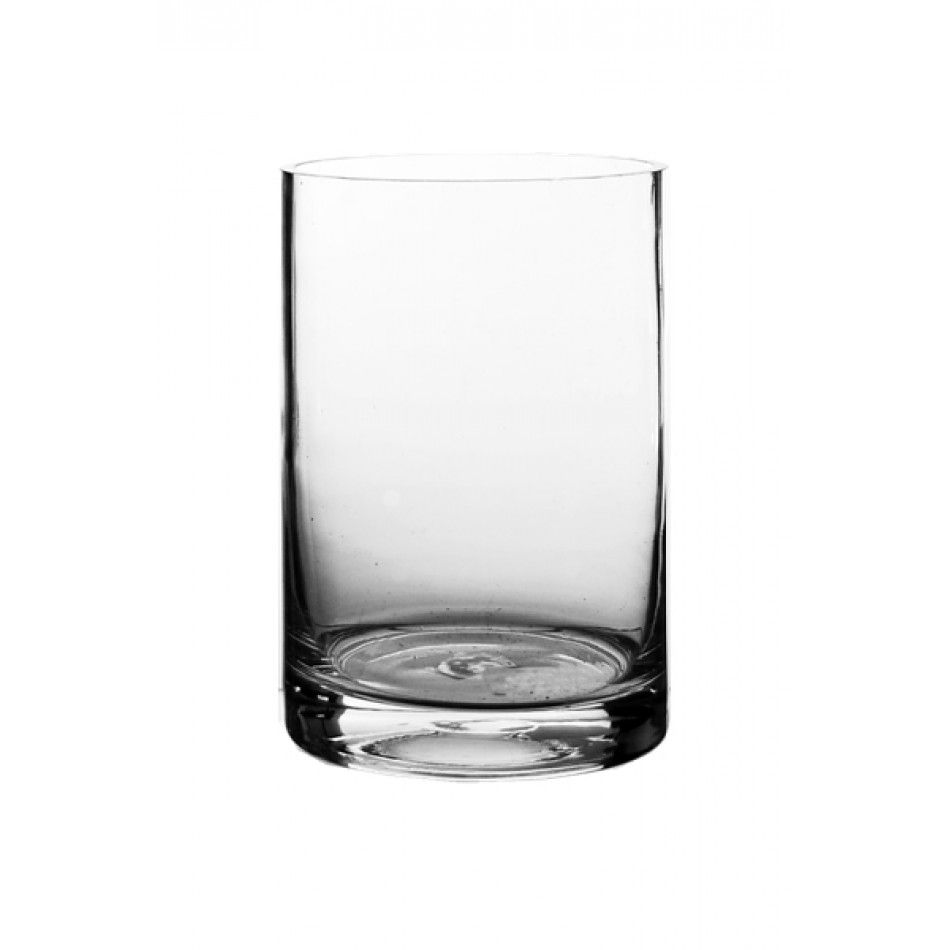 5 x 6 Clear Glass Cylinder Vase (BULK Case of 12 = $5.50 Per Vase ...
