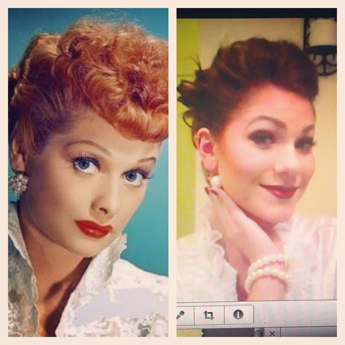 Lucille Ball From I Love Lucy Hair And Make Up Video Playing With Hair Ball Hairstyles Unique Halloween Costumes