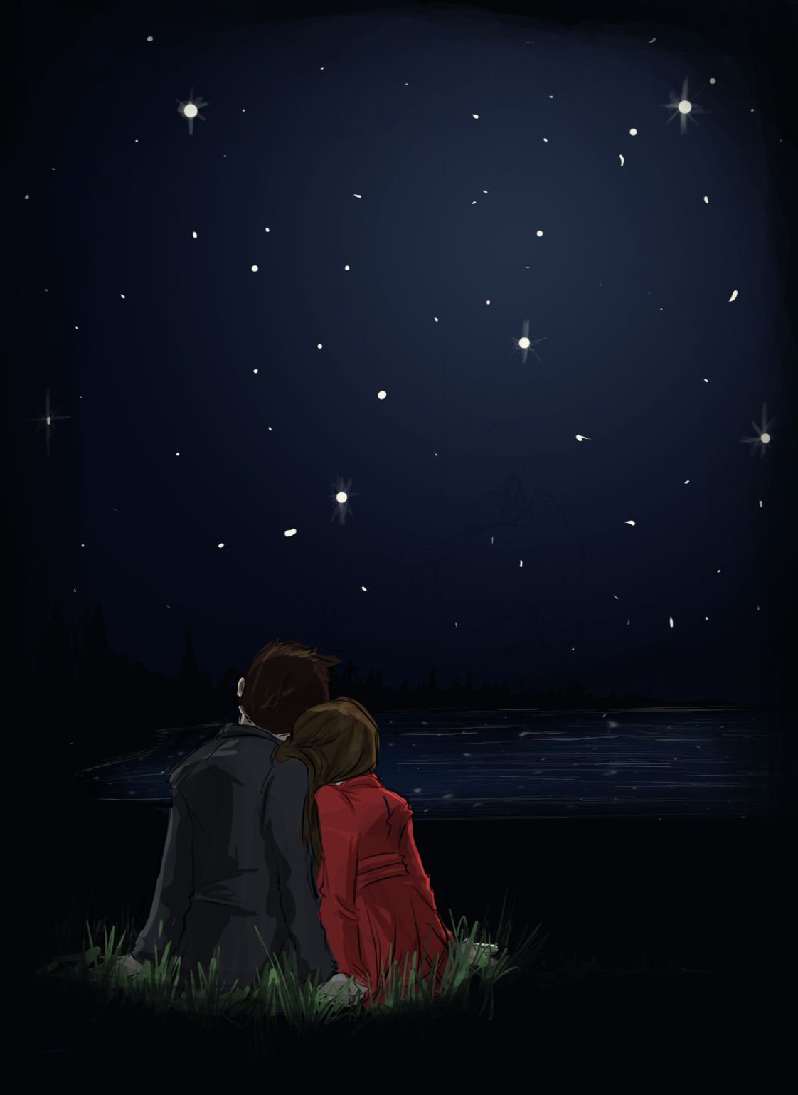 Pin By Farzana Tanwi On Stationary Anime Love Couple Love Drawings Love Cartoon Couple