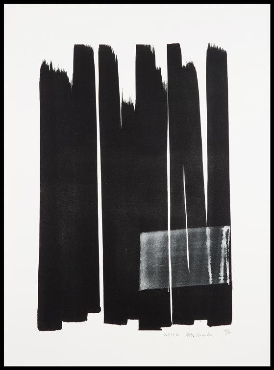 ♂ minimalist abstract Ink art black & white design Toko Shinoda
