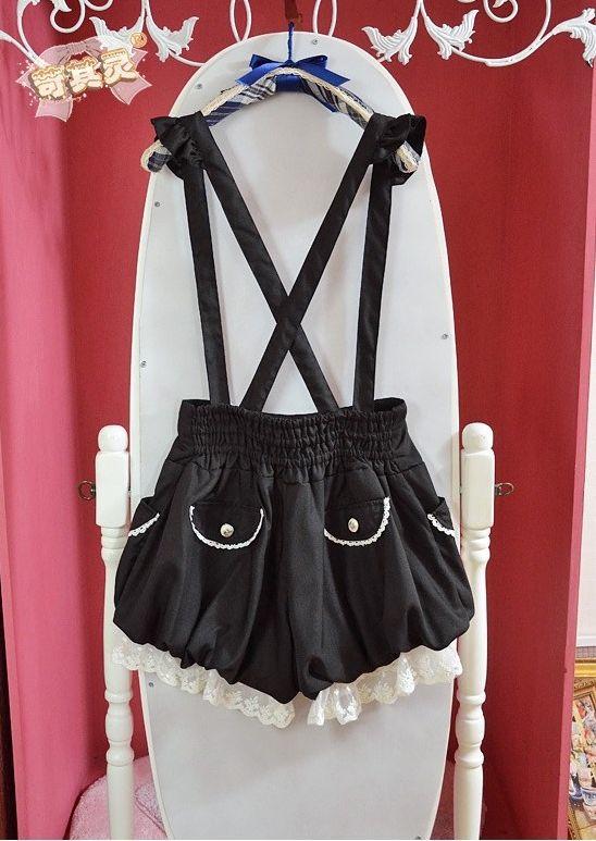 6f76c2140 Pantalones Tirantes Rosa O Negro   Suspender Shorts Pink Black Wh294