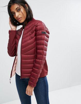 hollister padded coat