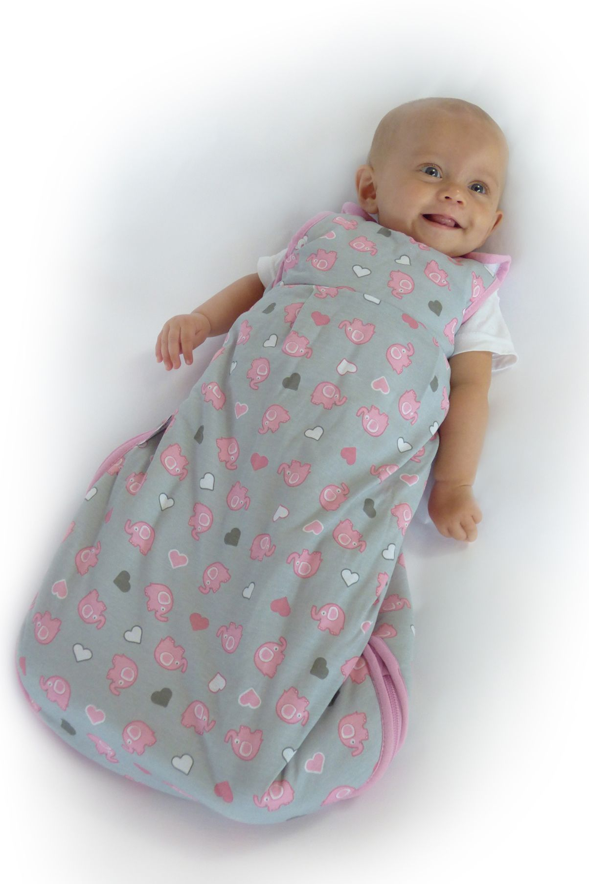 Cotton Baby Sleeping Bag Baby Sleeping Bag Pink Elephant Elephant Collection Baby