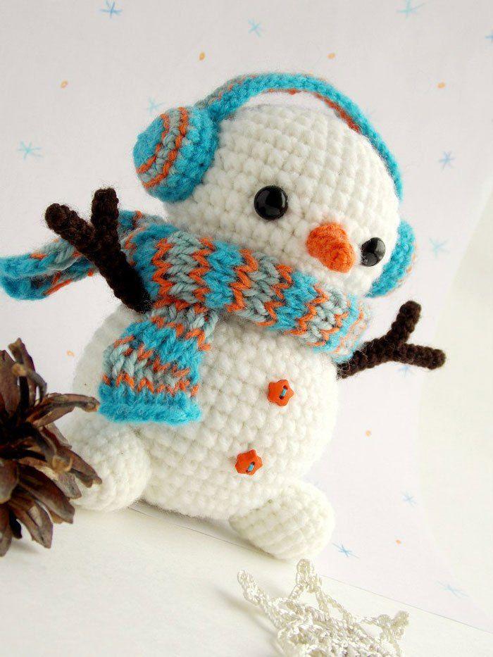 Patrones de crochet de Navidad - patrón de muñeco de nieve de ...