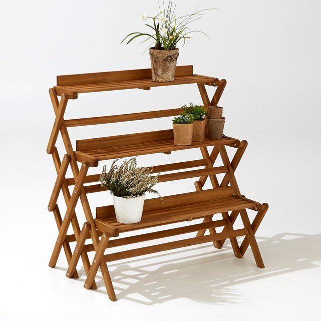 Etagère de jardin 3 niveaux pliable | SALON | Etagere jardin ...