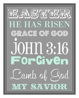 Poster for Easter - includes directions for printing through Walmart
