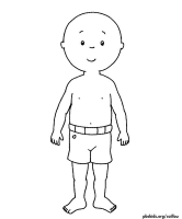 Caillou paper dolls...Kora LOVES this annoying little