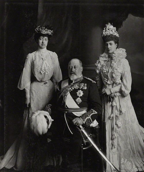 King Edward VII, Queen Consort Alexandra and their daughter Princess Victoria