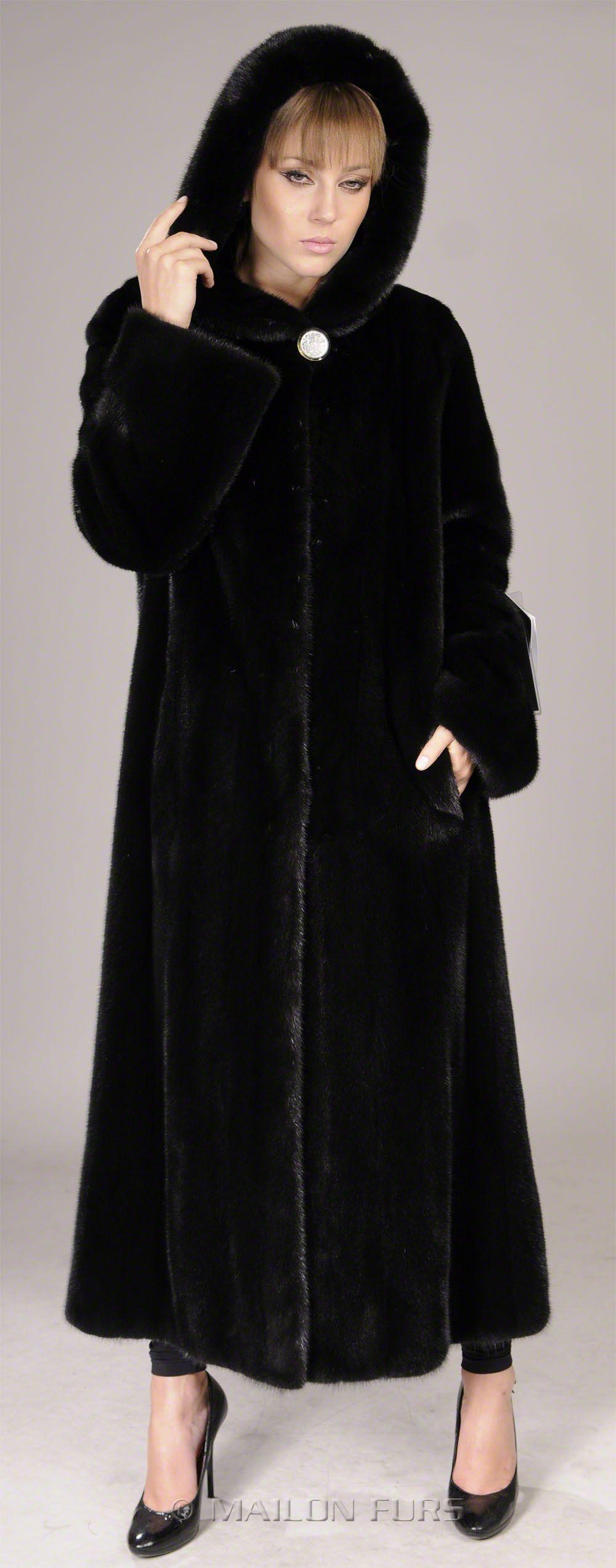 blackglama mink coat with hood - Google Search | Mink | Pinterest ...