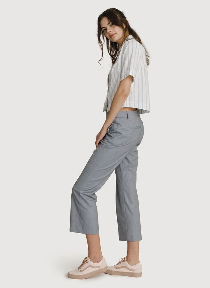 Kit and Ace Baby Flare Trousers Pants Gray Dk Windmill