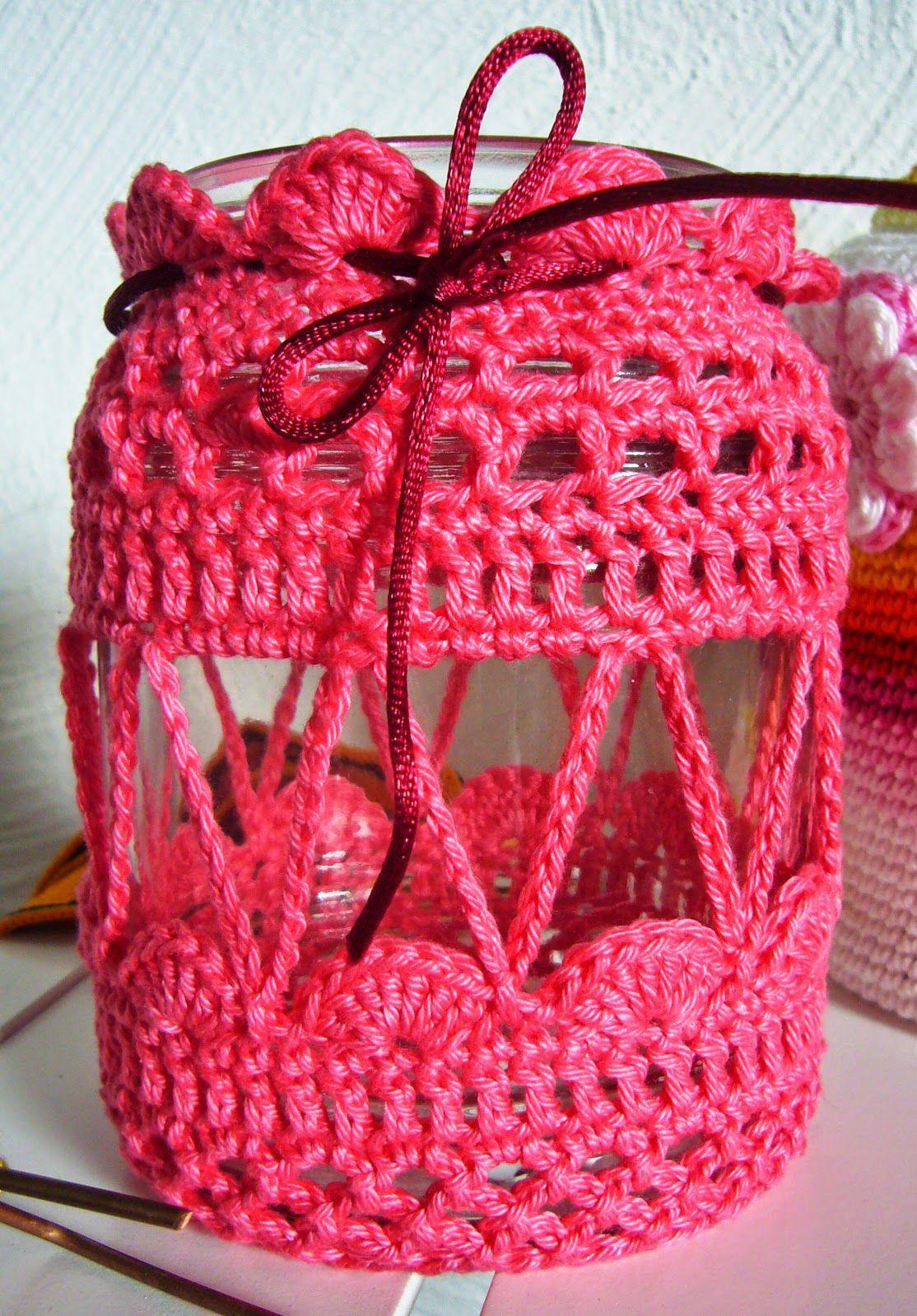 Noch Mehr Häkelei Frascos Decorados Crochet Crochet Crochet Jar