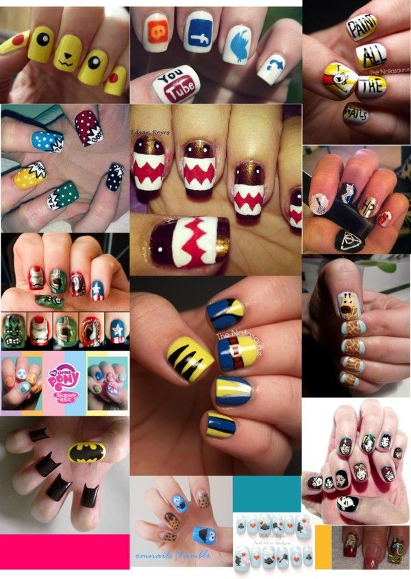 Nerdy Nail Art | Polyvore, Makeup and Nail stuff