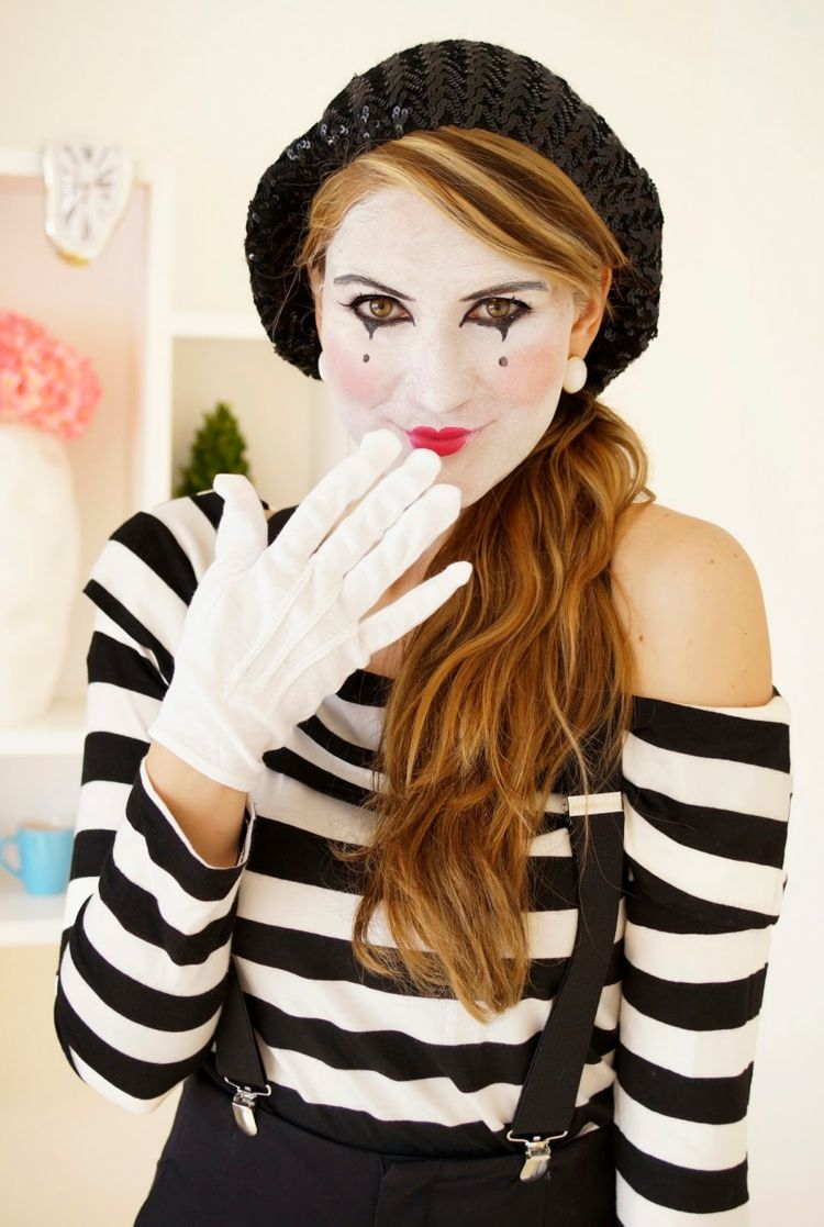 Photo of Make up pantomime – creative ideas in pictures for great makeup for Halloween and carnival – decoration house