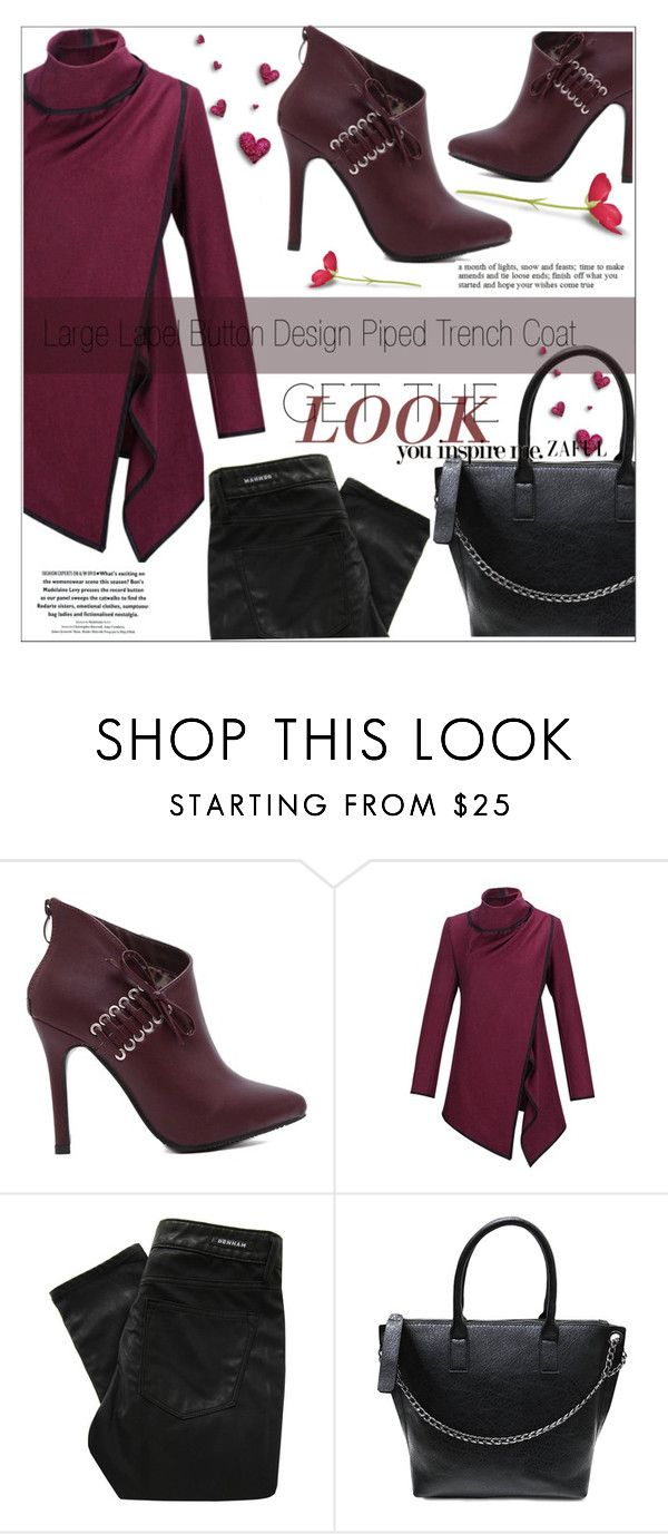 """""""44. www.zaful.com/?lkid=4274"""" by selmir ❤ liked on Polyvore featuring Denham, women's clothing, women's fashion, women, female, woman, misses, juniors and zaful"""