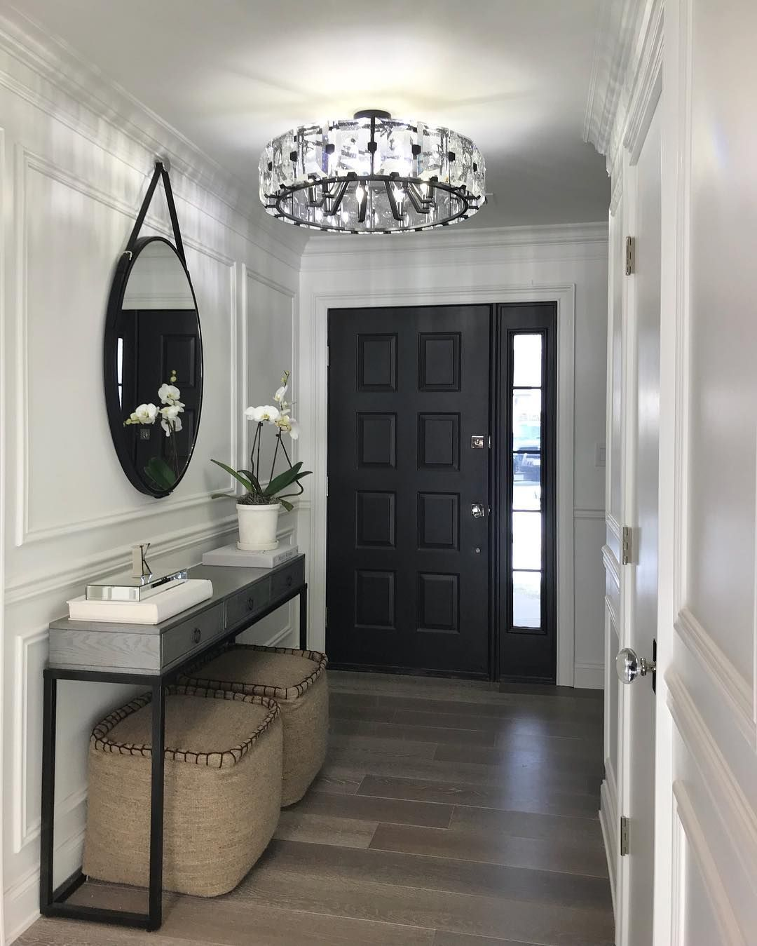My Foyer Is Finally Finished It Took A Long Time To Find The Perfect Chandelier F Chandelier In Living Room Foyer Lighting Low Ceiling Foyer Lighting Fixtures