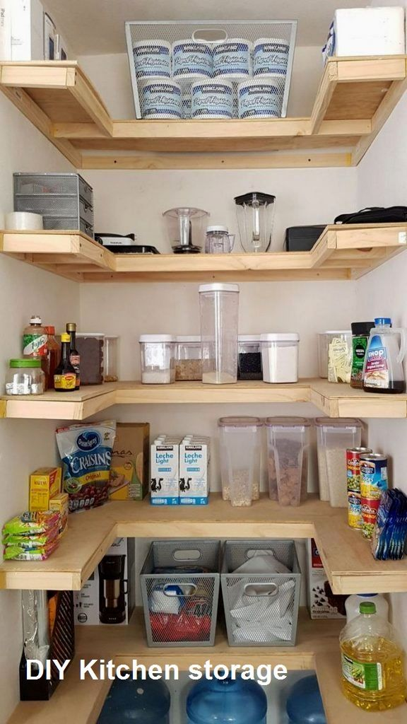 New Diy Kitchen Storage Ideas In 2020 Small Space Diy Small Kitchen Storage Kitchen Pantry Design