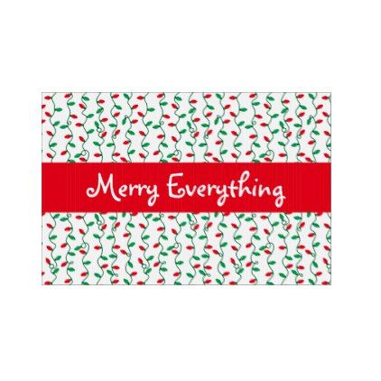 Christmas Light Stripes Holiday Greeting Sign - patterns pattern special unique design gift idea diy