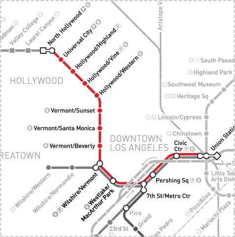 Red Line Los Angeles Subway Map.Pin By Margaret Gallagher On Beasts Of Los Angeles Line Metro