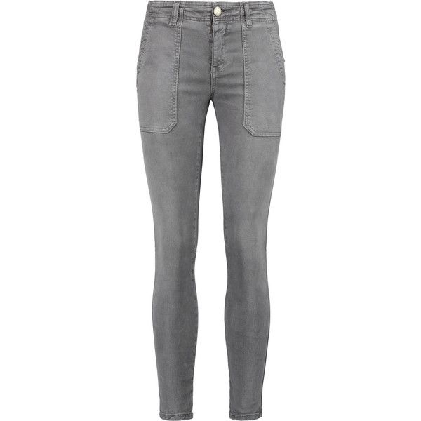 Current/Elliott The Conductor mid-rise skinny jeans (£97) ❤ liked