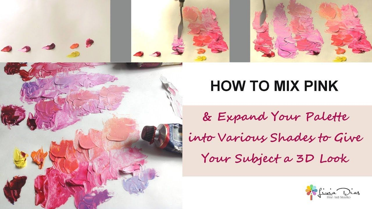 How To Mix Pink Youtube Mixing Paint Colors Color Mixing