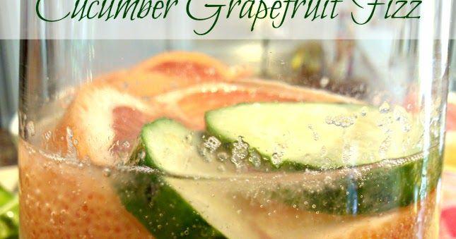 Cucumber Grapefruit Fizz #grapefruitcocktail