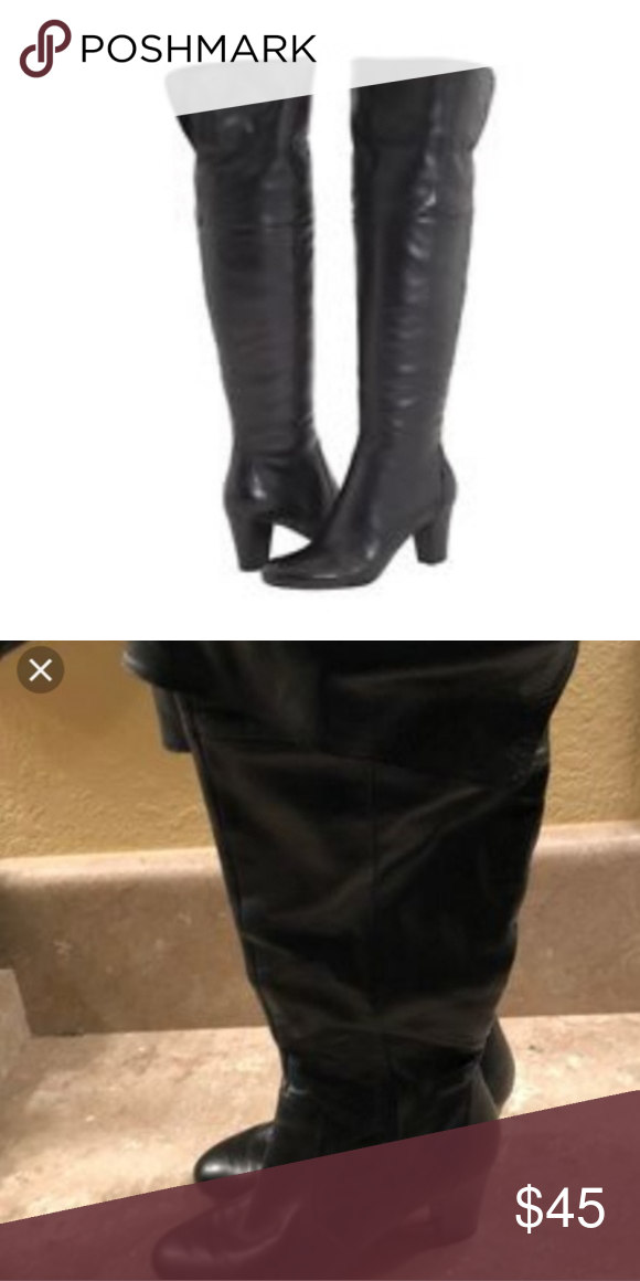 ef79226b5e9 Bandolino Eye Candy over the knee boot Beautiful black leather over the knee  boots. Can