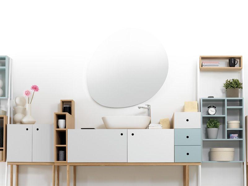 Lackiertes Modularer Wohnzimmerschrank COLLAGE CABINET Kollektion Collage By Ext