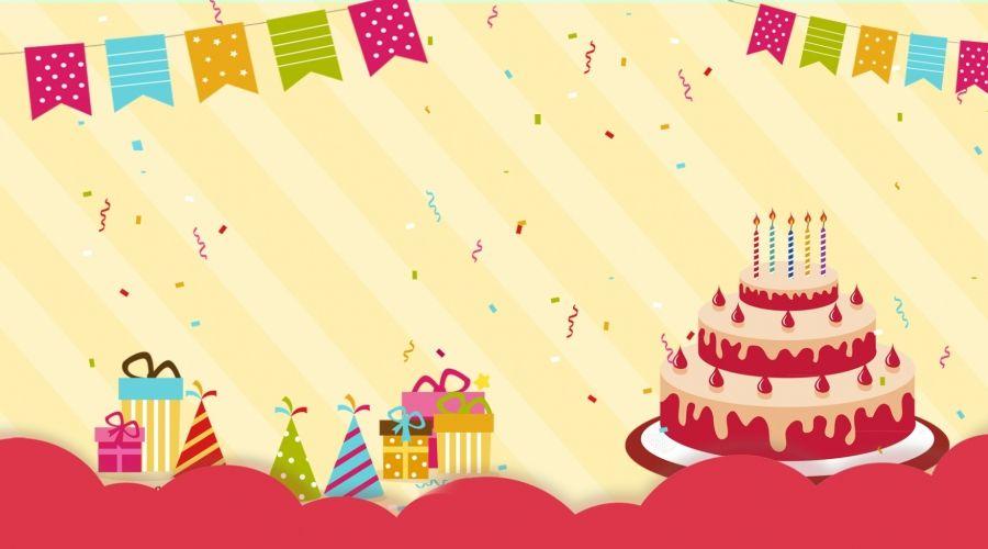 لطيف الرياح الصفراء حفلة عيد ميلاد الخلفية Yellow Birthday Parties Birthday Party Background Yellow Birthday