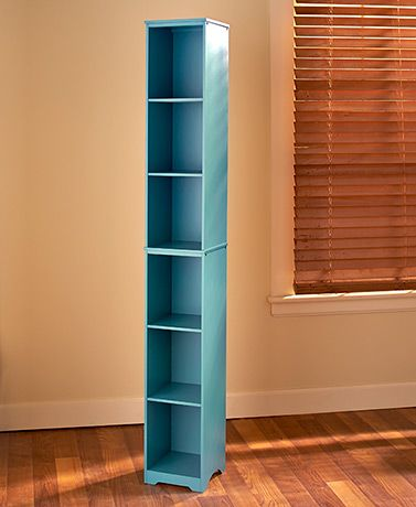 Add a pop of color and a dash of organization to any room in your home! This slim storage tower has plenty of space for books, bathroom items, and home accents to bring the house to life!