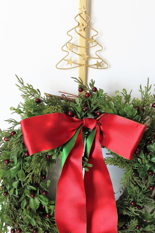 Christmas Wreath Hanger Gold Wreath Hanger Over The Door Wreath