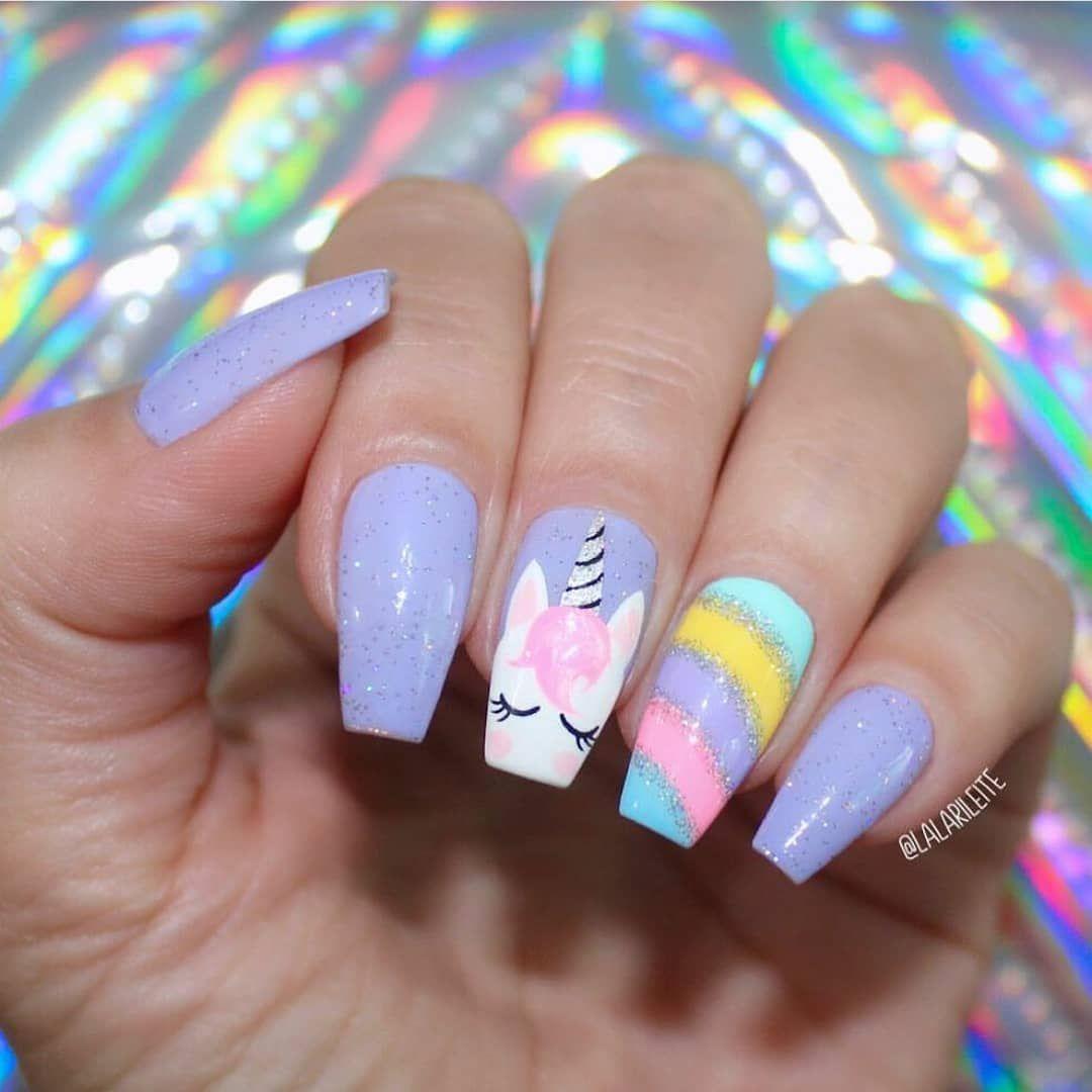 Unicorn Nails Nailideas Kids Nail Designs Unicorn Nail Art Nail Art For Kids
