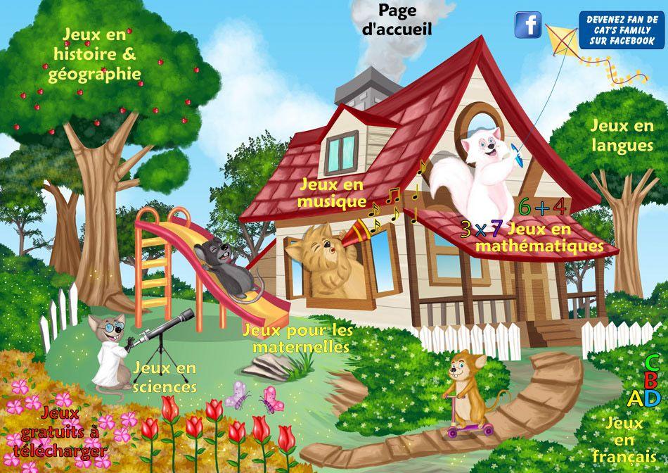 Les jeux gratuits en ligne Cat\u0027s Family en français, mathématiques - logiciel d gratuit maison