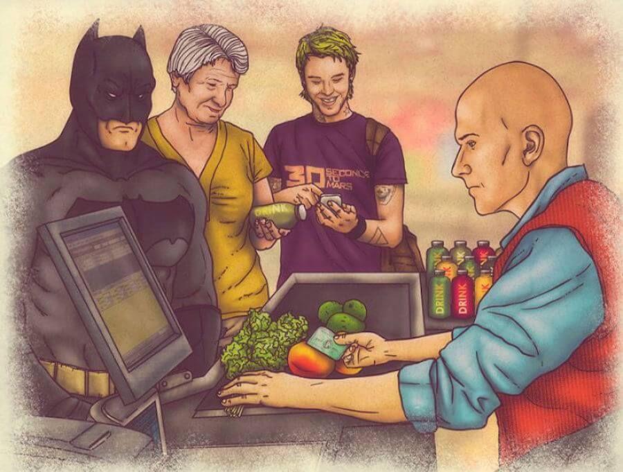 Cartoons mostram a vida cotidiana de nossos heróis favoritos | SuperVault