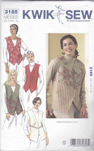 Kwik Sew Sewing Pattern 3185 Misses Sizes XS-XL (approx 6-22) Button ...