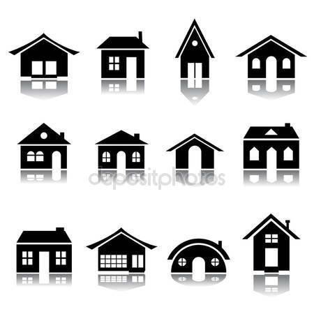 38++ Black and white house clipart vector info