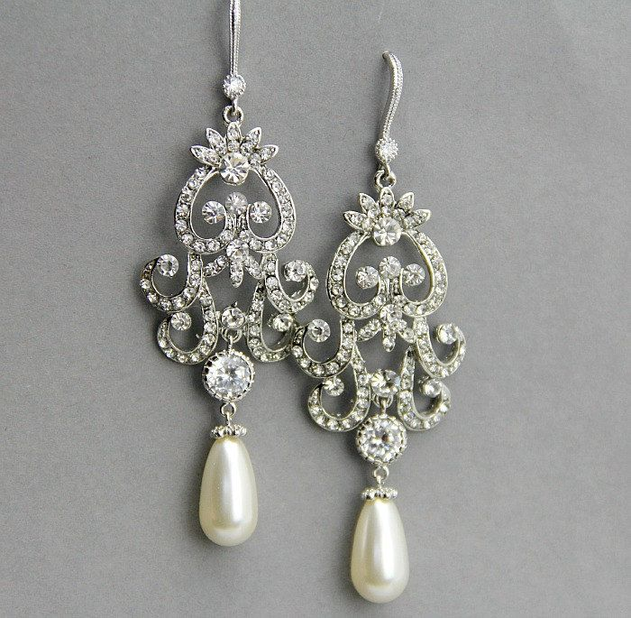 17 Best images about jewelry – Pearl Chandelier Bridal Earrings