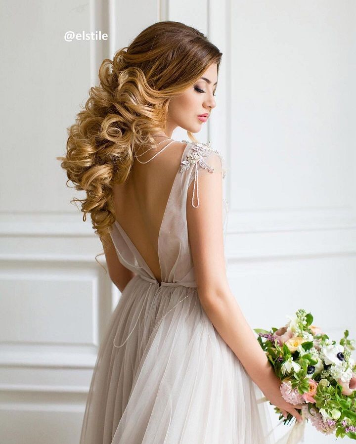 Bridal hair down #weddinghair #hairstyle #hairdown #wedding #bride