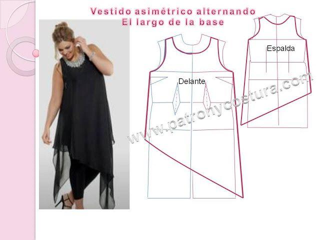 blusón asimétrico diy. Tema 191 | patronycostura.blogspot.com.es ...