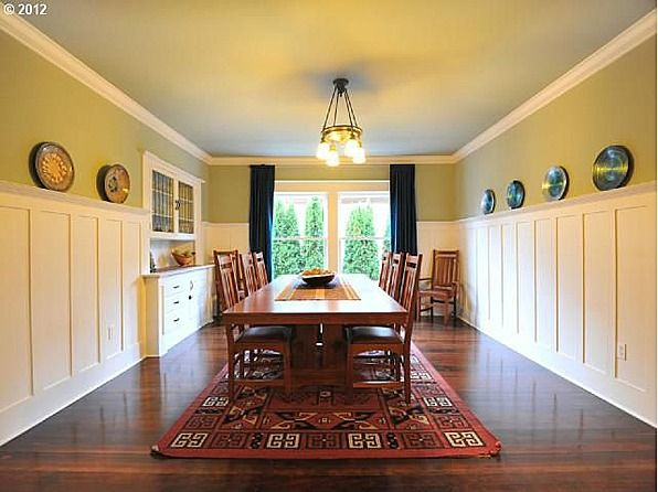Craftsman style wainscoting in recreation room k for Craftsman picture rail