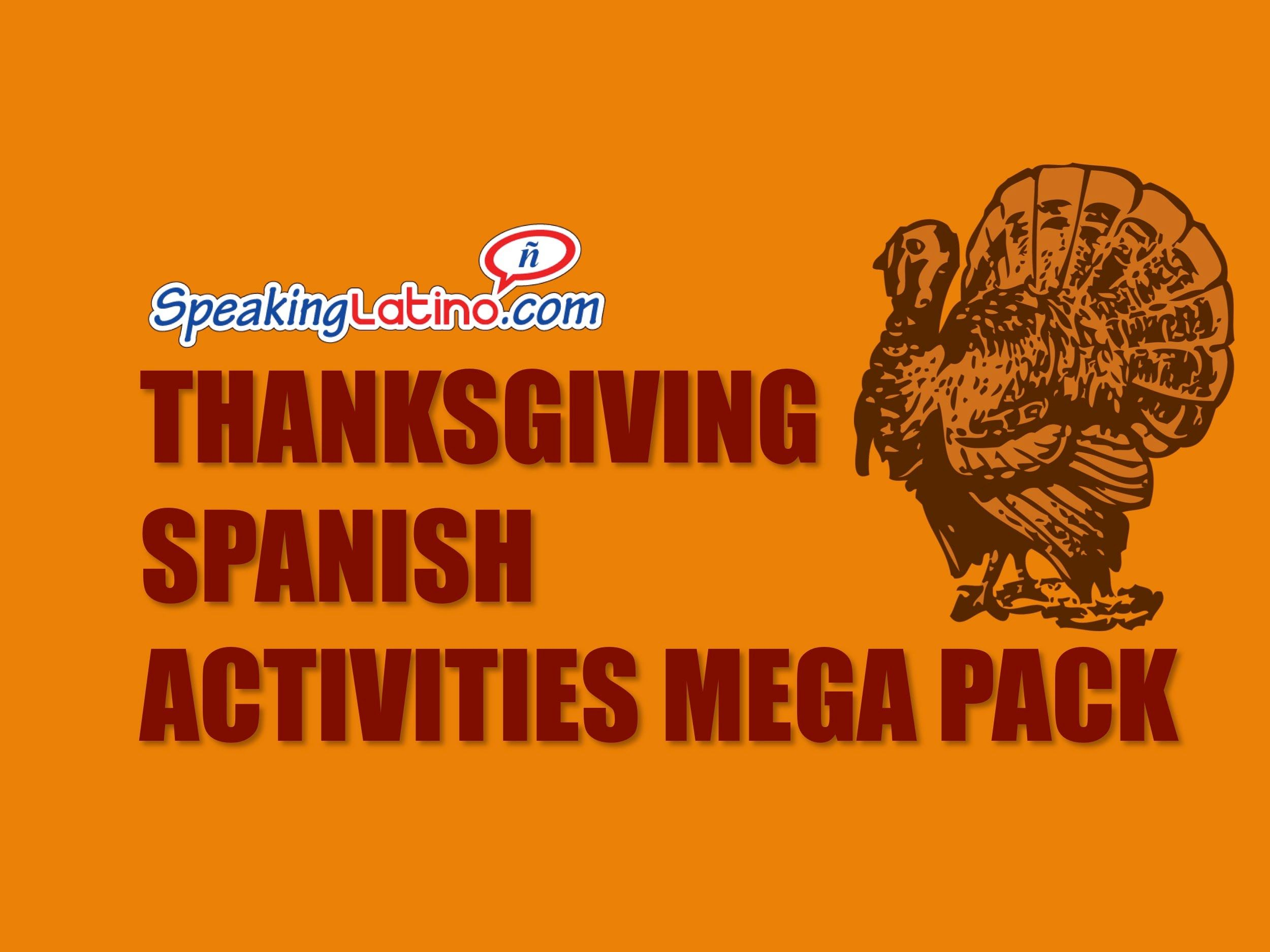 Thanksgiving Spanish Activities Mega Pack