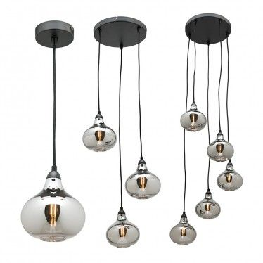 L2 1531 electroplated smoke glass pendant light range from