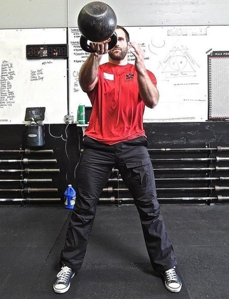 Senior RKC Chris White Kettlebell Swing MED of kettlebell workout ...