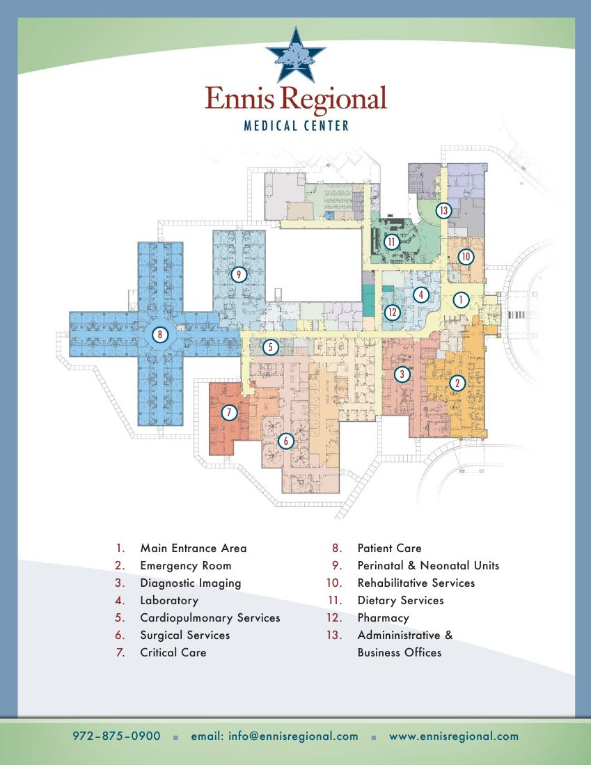 Hospital Floorplan Ennis Regional Medical Center – Ennis Homes Floor Plans
